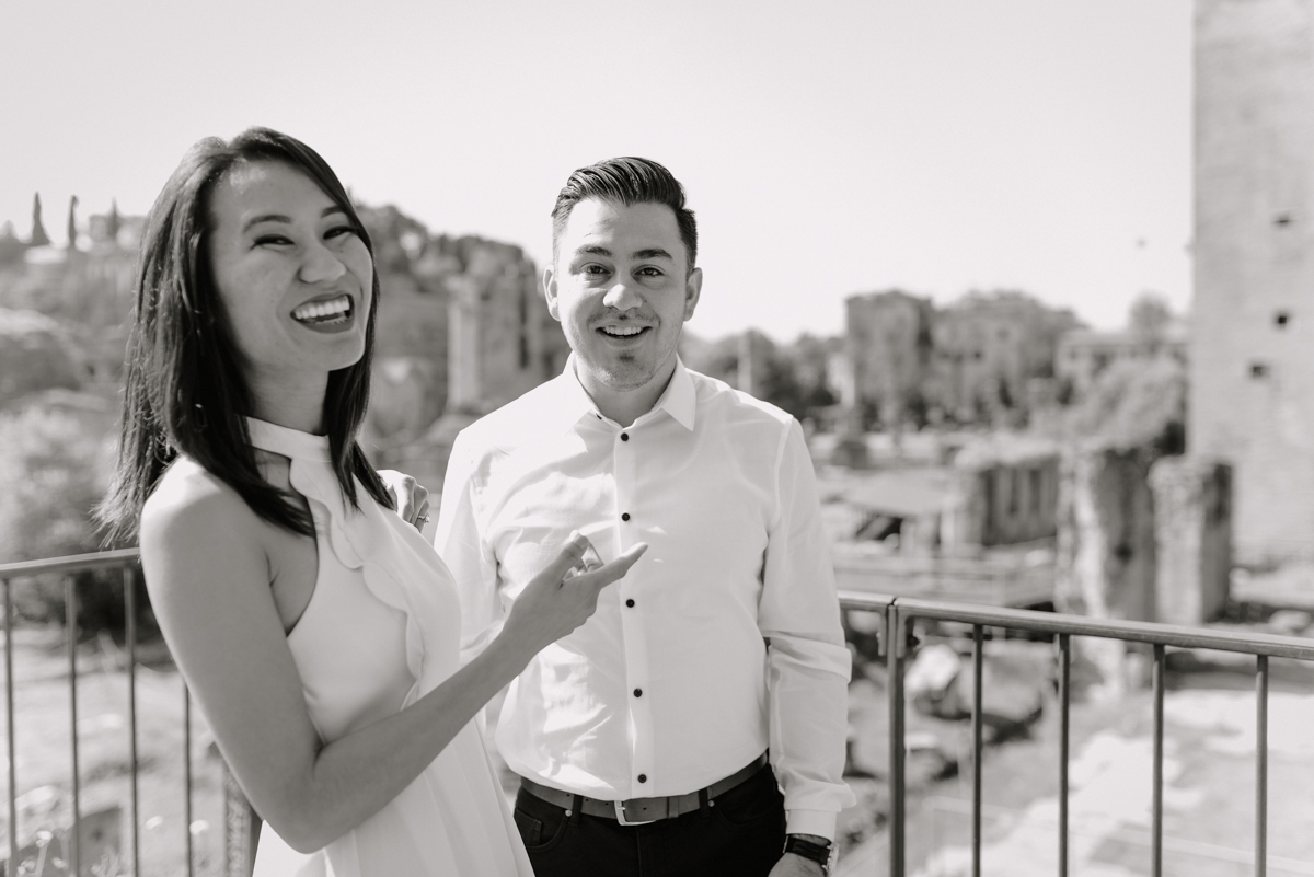 rome engagement session photography location